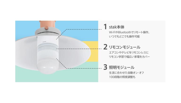 電球の形をしたモジュール拡張型のスマートデバイス「stak」