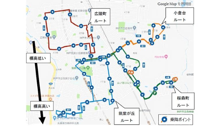 「ローカルMaaS」実現を目指し、車内コミュニケーションやデータ利活用などの実証実験、神戸市