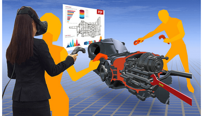VR空間で3D CADデータの部品を自在に個別操作が可能に