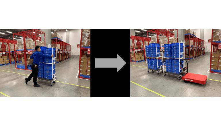 倉庫内搬送業務の効率化・省人化を実現する物流支援ロボットの導入効果