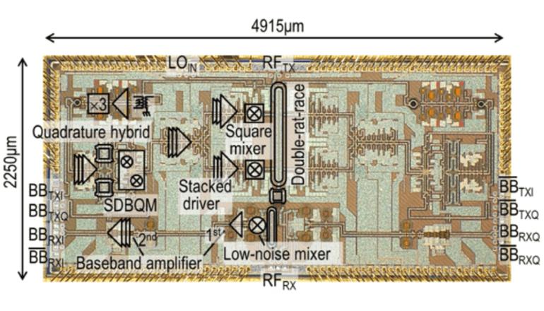 5Gの先を行く、超高速ワンチップトランシーバが現実に