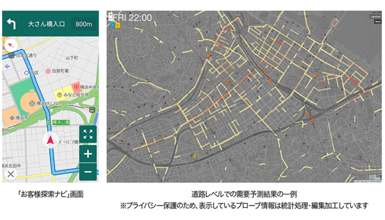 AIでタクシーの需給予測、ナビアプリで収益・業務効率アップへ導く