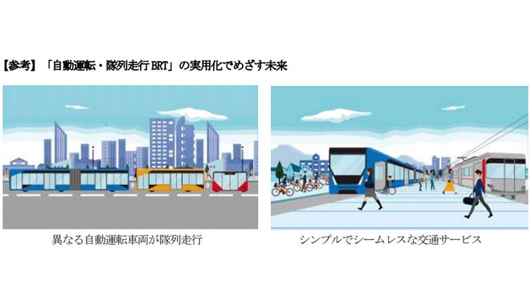 次世代モビリティ、異なる自動運転車両が隊列走行するBRT開発へ