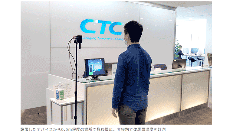 AIにて顔認識&体温測定する小型軽量デバイス