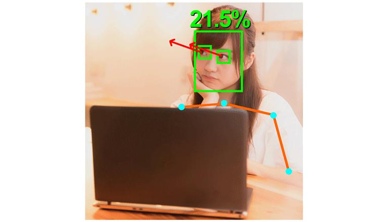 オンライン学習中のふるまいをAI分析、受講および授業の質をアップ