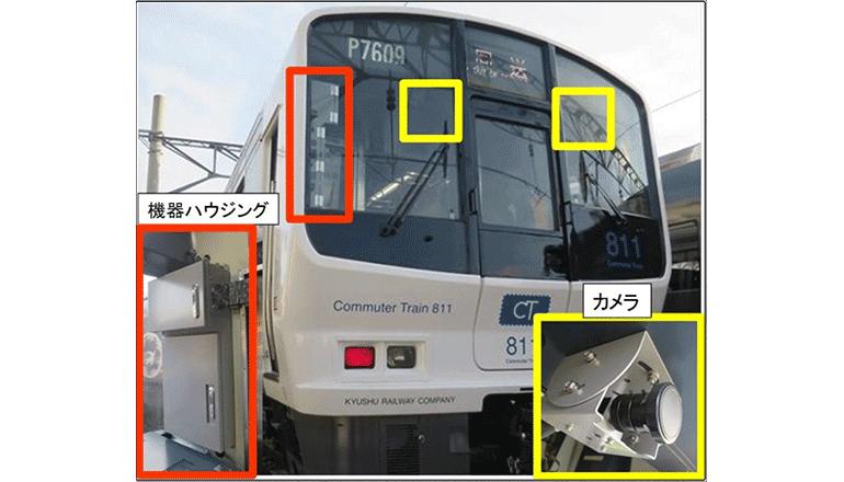 営業列車で沿線の映像解析、支障物を自動検知する