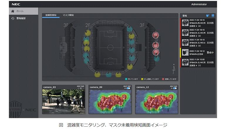 スマートスタジアムの実証、安全安心と快適をデジタル技術で
