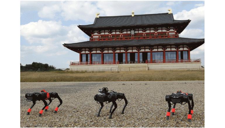 平城宮跡歴史公園をロボットがゆく、AIも活用して――