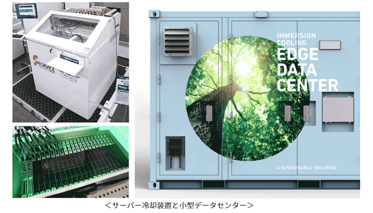 脱炭素社会の実現に向け、データセンターに液浸冷却装置を活用