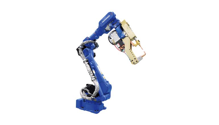 高加圧スポット溶接に対する対応力を強化したロボット