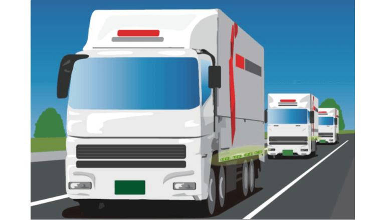 後続車無人システムを用いたトラック隊列走行に対応した自動車保険を開発